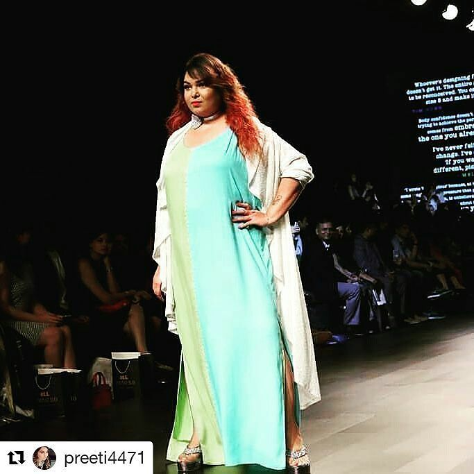 260de437e59 Amazing #Repost @preeti4471 (@get_repost) Real people with real curves rule  the ramp. Lakme fashion week 2017 plus size model #plussized #plusizemodel  ...