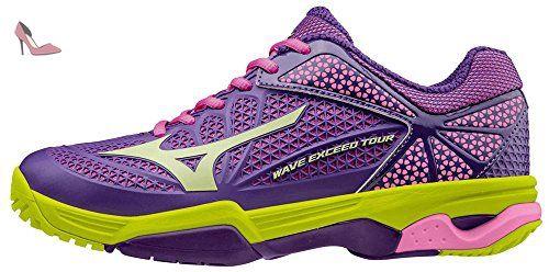 big sale ebf14 6b113 Mizuno Wave Exceed Tour Ac Wos, Chaussures de Tennis Femme, Violet-Viola (