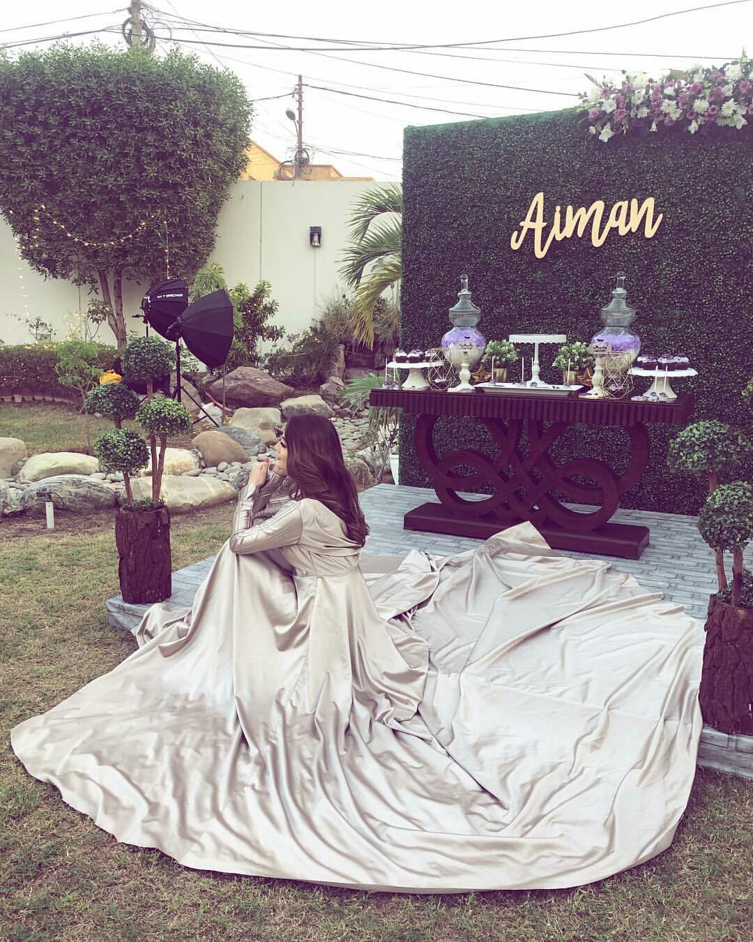 Aiman Khan Bridal Shower Bridal Shower Outfit Wedding Dresses For Girls Pakistani Wedding Dresses