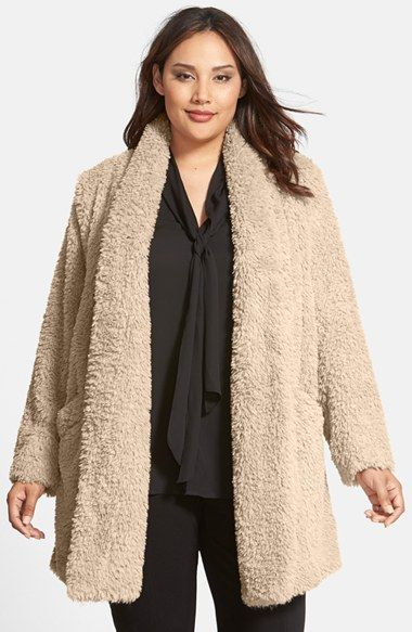 406402c633e Kenneth Cole New York  Teddy Bear  Faux Fur Clutch Coat