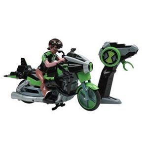Motocicleta Ben 10 Candide Alien Cycle 5363 - Verde Essa motocicleta do Ben 10, com controle remoto, vai fazer a alegria da criançada! Pode apostar. Com ele, a festa dos garotos não vai ter hora para acabar!
