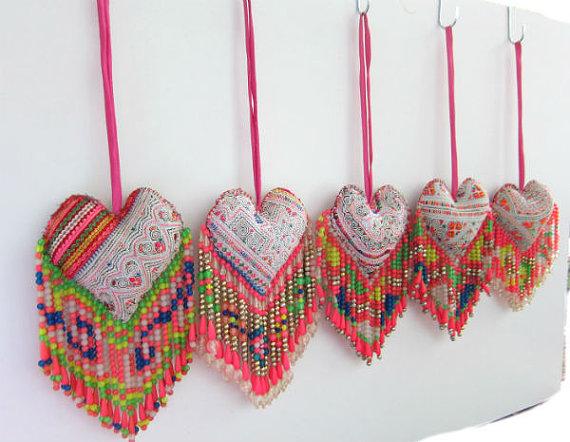 Heart Handbag Charm Beaded Handbag Accessory Beaded Gift For Her Boho Handbag Decor Boho Beaded Handbag Accessory Laugh Charm