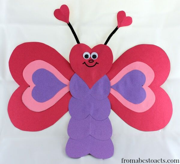 valentine crafts for kids heart shaped butterfly