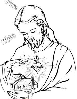 Sagrado Corazon De Jesus Para Colorear 300x385 Jpg 300 385 Dibujos De Jesus Jesus Para Colorear Simbolos Geometricos Sagrados