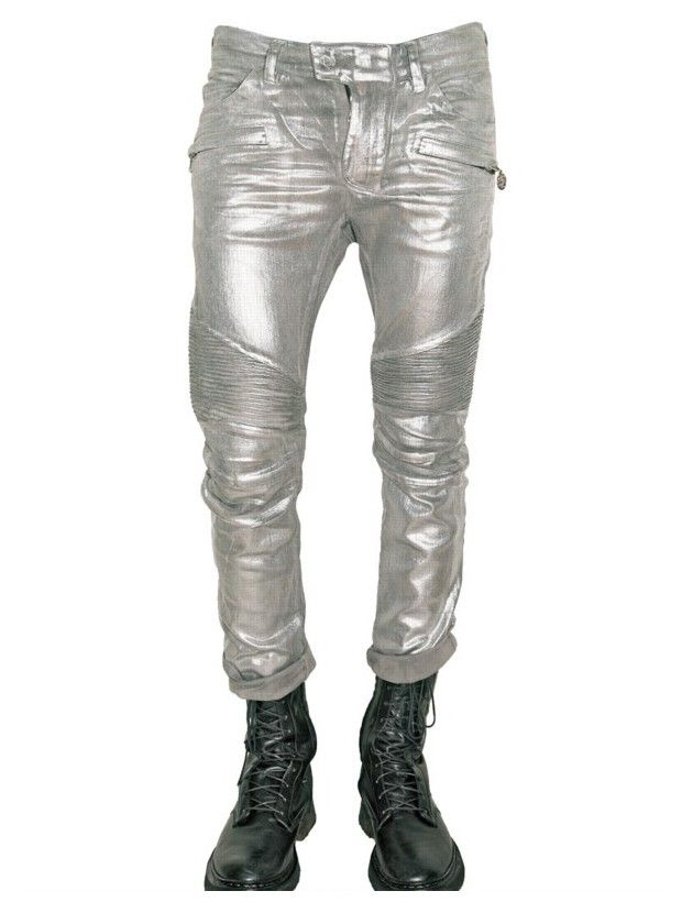balmain jeans for men | Lil' Wayne in Balmain Silver Stretch Denim ...