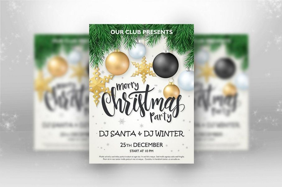 30+ Beautiful Christmas Invitation Templates For Christmas Night