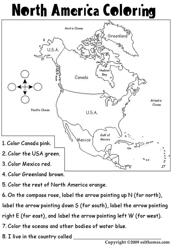 printable picture of north america | north america Colouring Pages ...