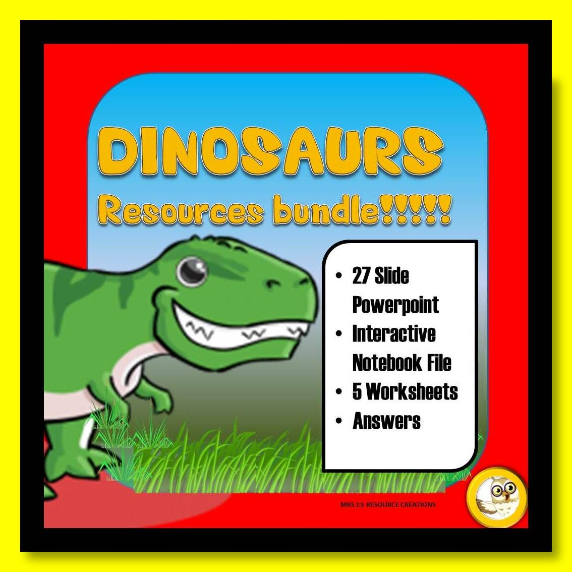Dinosaurs Powerpoint Worksheets Pack
