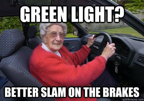 Bad Driver Barbara | Funny old people, Old people memes, Bad ...