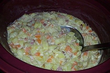 Kartoffel-Senf-Topf aus dem Slow Cooker #slowcookercrockpots