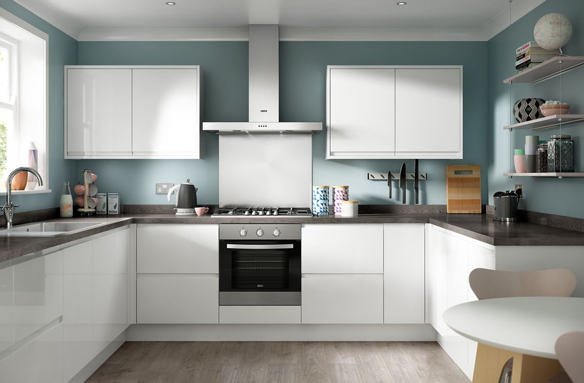 Soho Gloss White from Benchmarx - maybe our actual kitchen! | our ...