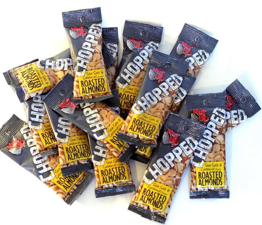 CHOPPED Roasted Almond Sea Salt Caramel Snack Packs available in 5, 10 or 15 QTY! www.nutupindustries.com