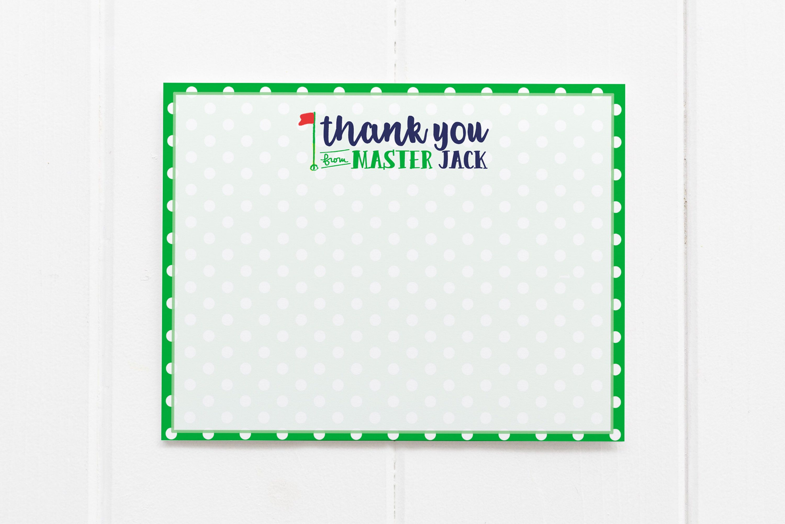 golf thank you notes personalized thank you cards kids stationary