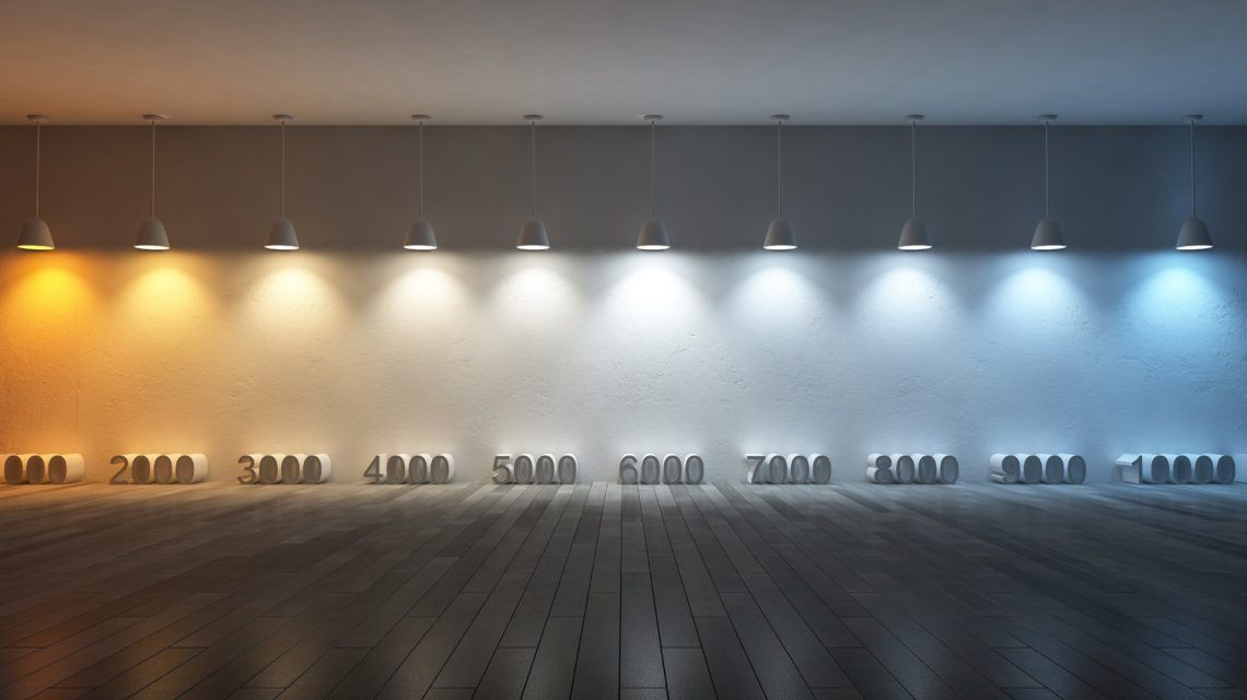 Led Color Temperature Chart With Real World Examples Color Temperature Ceiling Can Lights Recessed Lighting