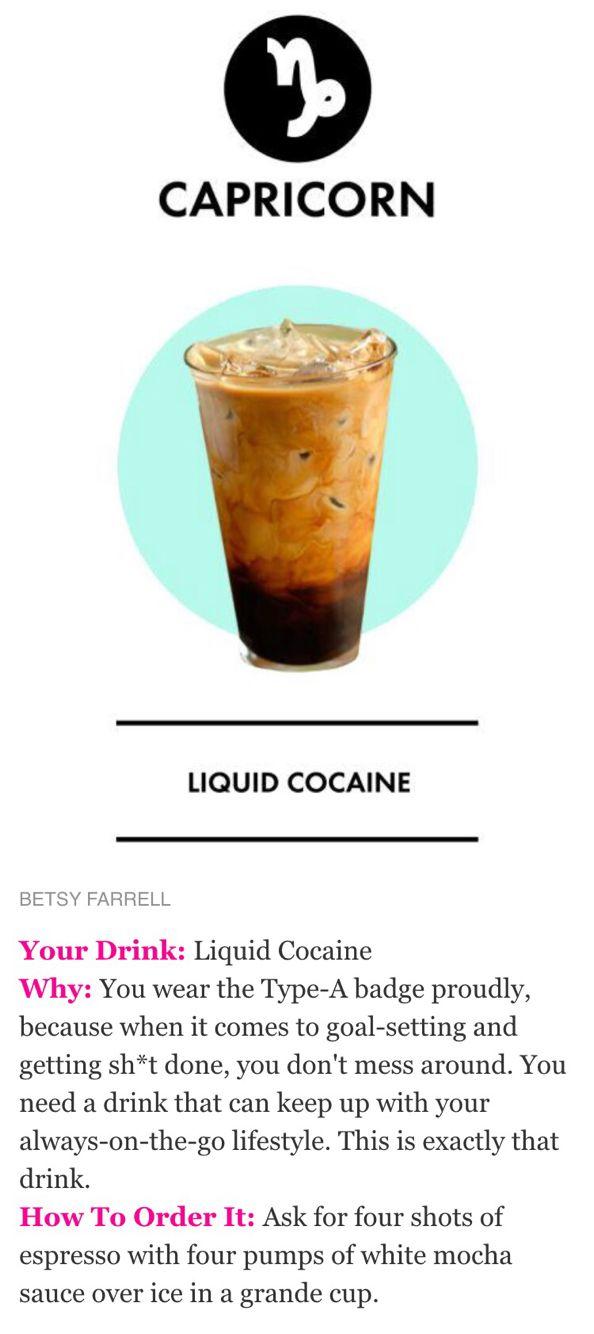 Starbucks secret menu recipe - Liquid cocaine   Starbucks (soz I'm ...