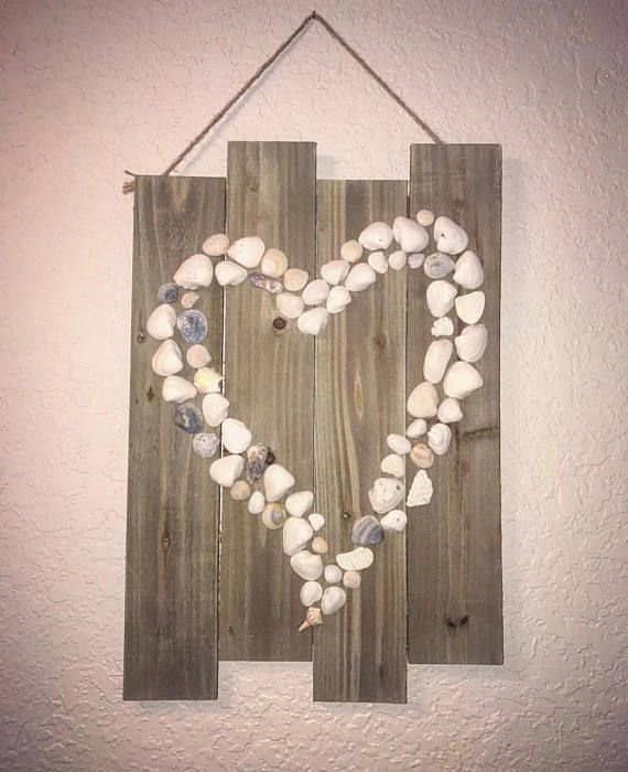 Photo of Shell wall hanging,  #diybathroomdecorseashells #hanging #shell #Wall