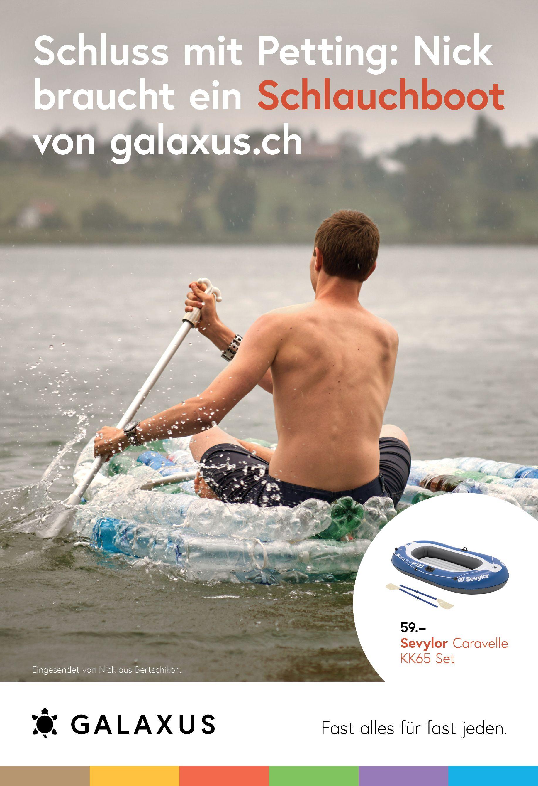 Schluss mit Petting: Nick braucht ein Schlauchboot von Galaxus #GalaxusLive #Galaxus