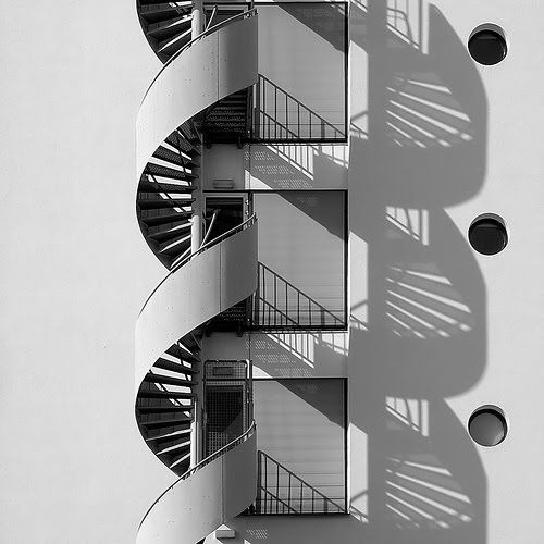 Double Helix by fluxxus1. Love how the shadow creates the second helix.