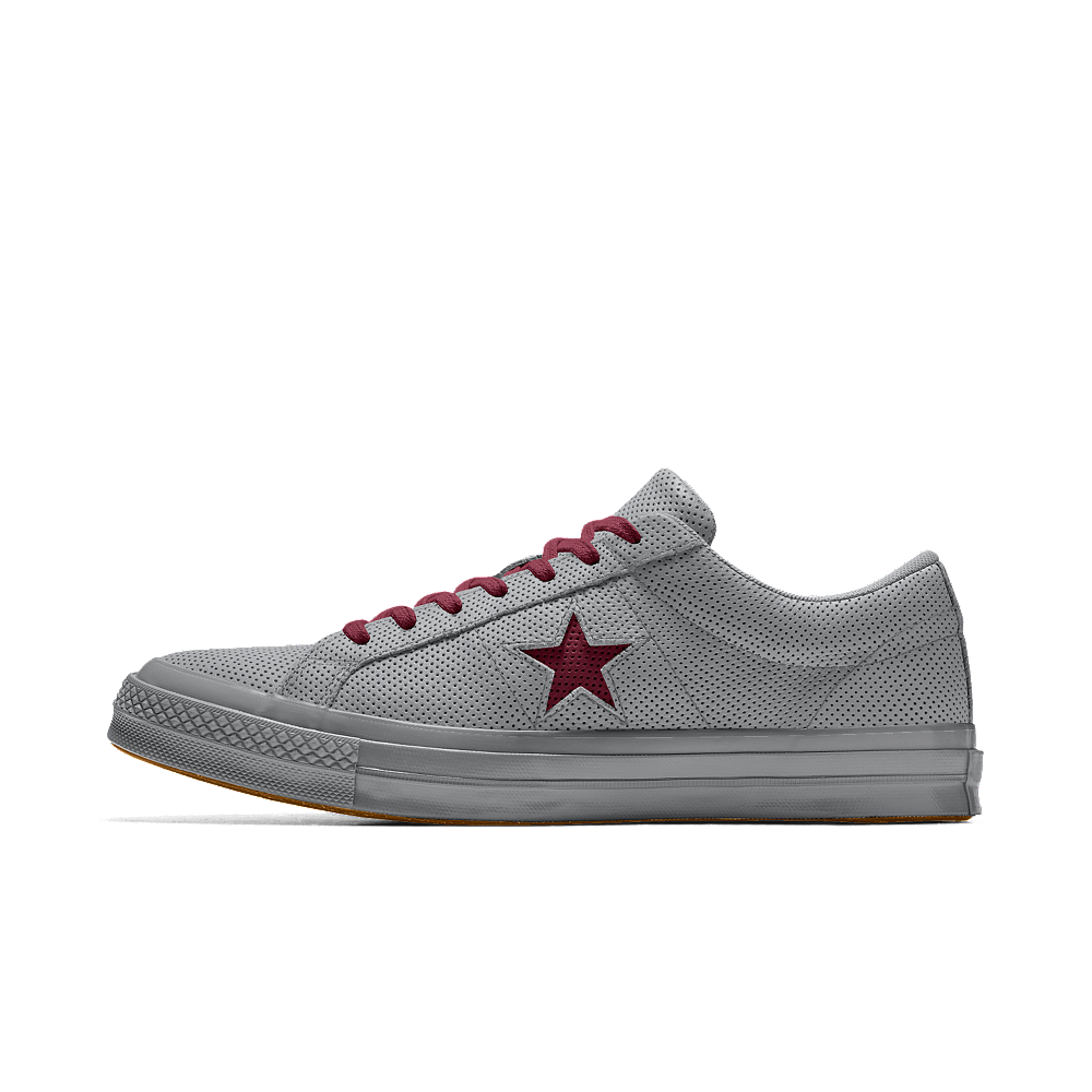Converse Custom One Star All Over Perforated Leather Low Top