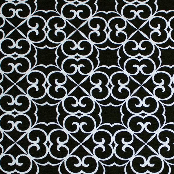 Black and White Cotton Scroll