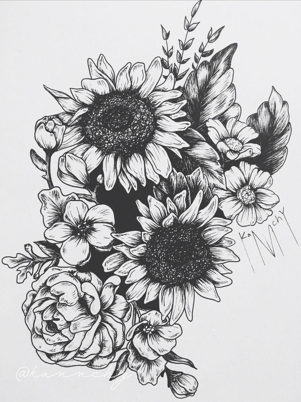 Sleeve Sunflower Tattoos Sunflower Tattoo Sleeve Sunflower Tattoo