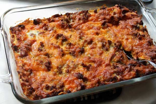 Cheesy Sausage and Egg Casserole