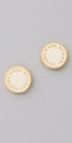 Marc By Jacobs Logo Disc Stud Earrings