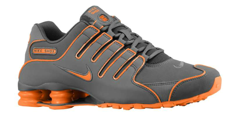 602734af0c3 black and orange nike shox for men