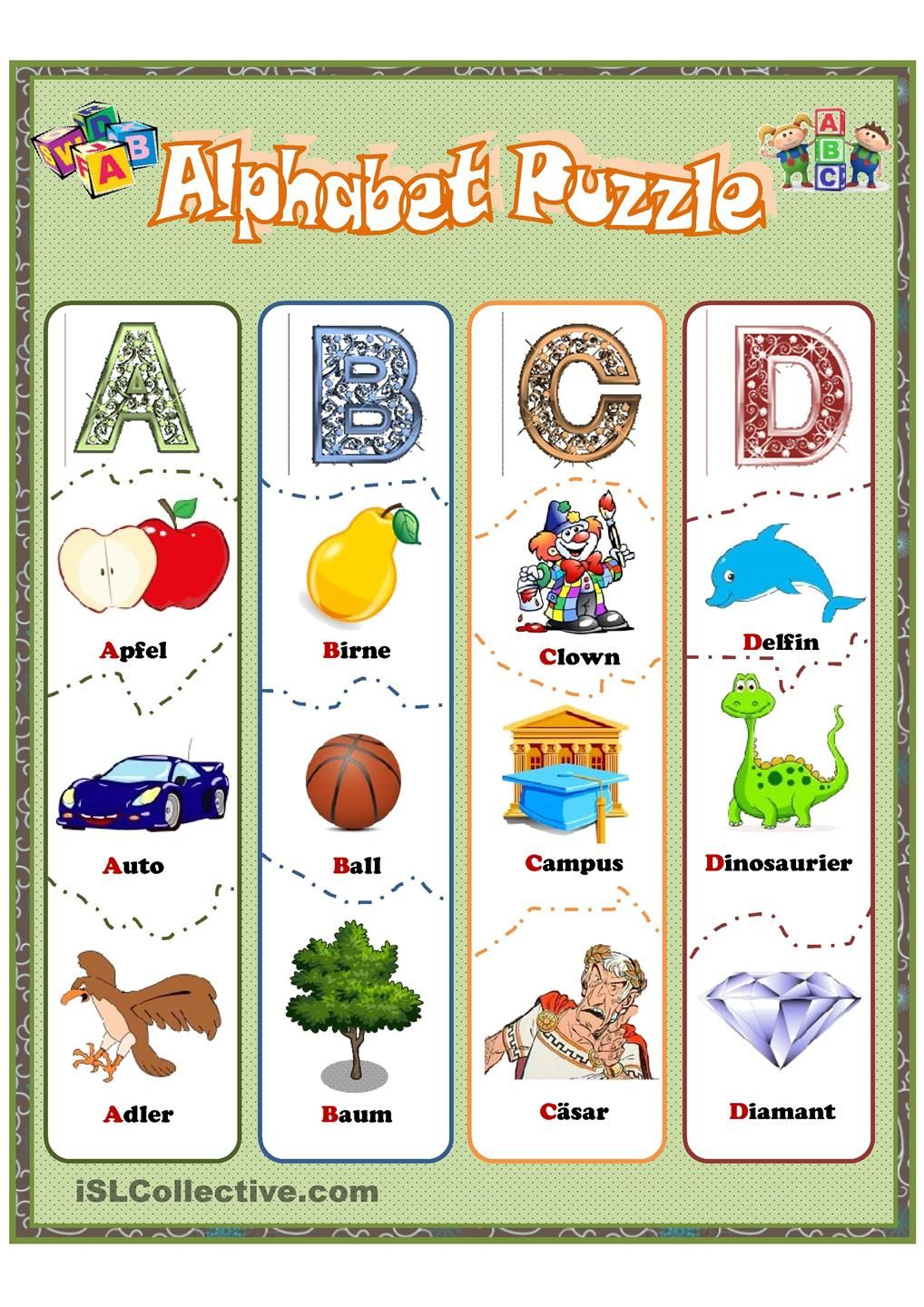 Alphabet Puzzle | Worksheets