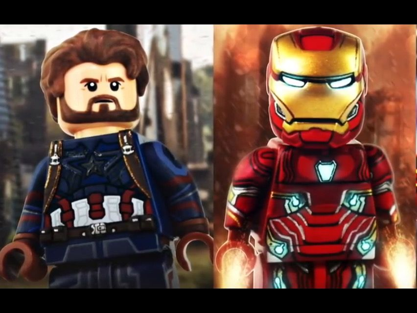 Red Infinity Gauntlet ~ Avengers ~ 24 stones ~ Custom Lego Minifigure Iron Man