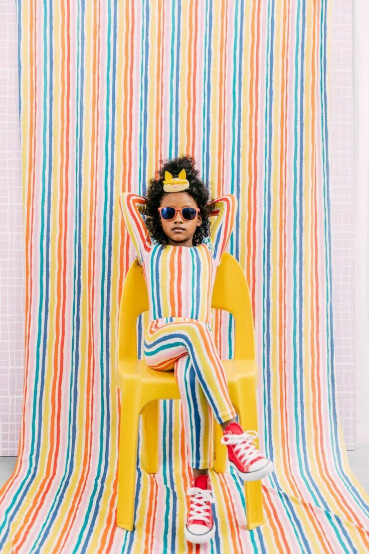 Deckchair multicolour stripes at Noe & Zoe kids fashion for summer 2017 #KidsFashionTrends