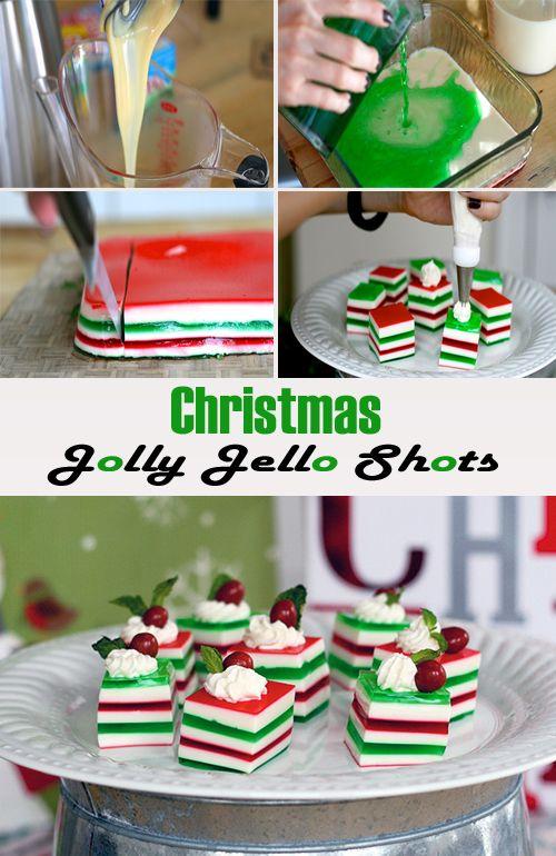 Christmas Jolly Jello Shots #christmastreats #jolly #jello #christmasdesserts #holidayrecipes