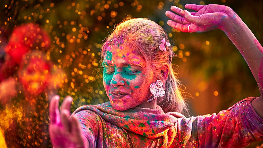 Viaje Holi Festival De Colores Mt 30046 Festival De Colores Deseos De Felices Fiestas Festival Holi