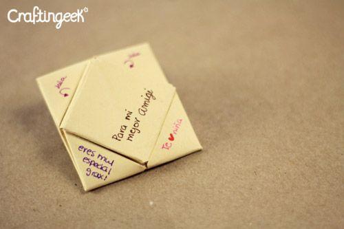 Doblando Cartas Cuadrito Jale Flecha Y Bolsita Doblar Cartas Cartas Carta Origami