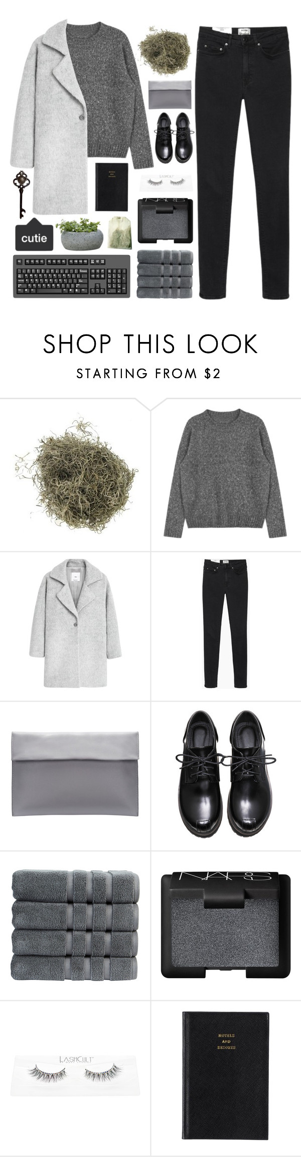 """""""dream of californication"""" by dr0ps-of-jup1ter ❤ liked on Polyvore featuring MANGO, Acne Studios, Christy, NARS Cosmetics, Prada and Campania International"""