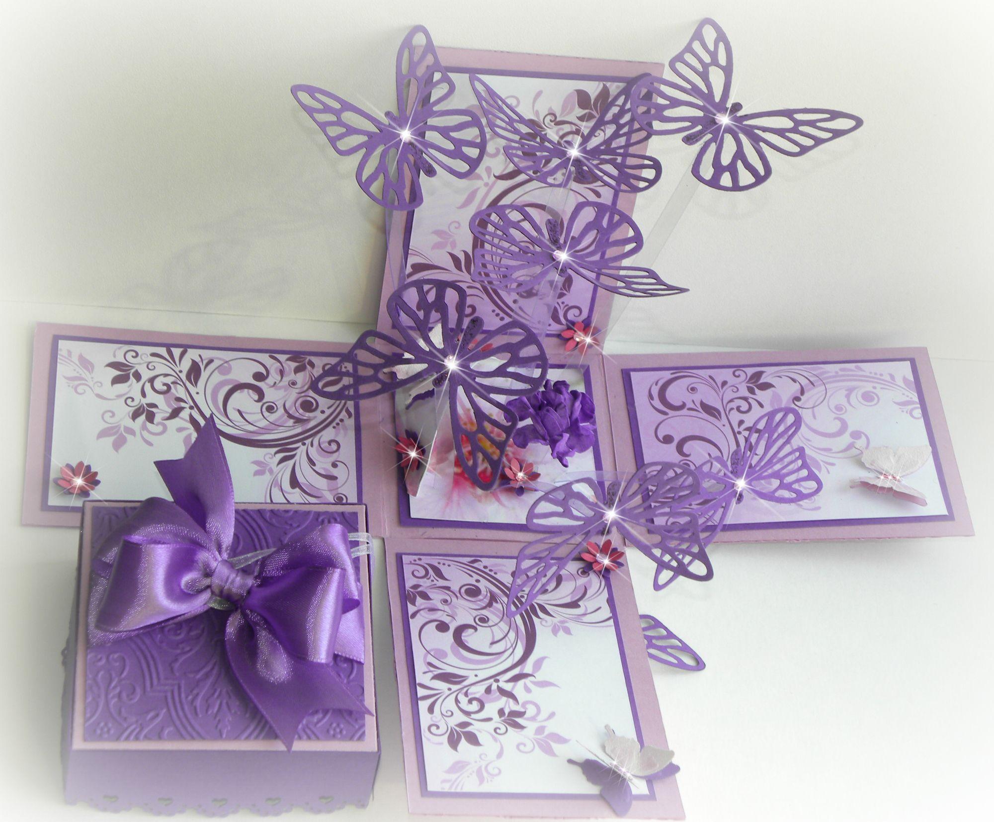 032014 7 butterflies card box explosion box card making