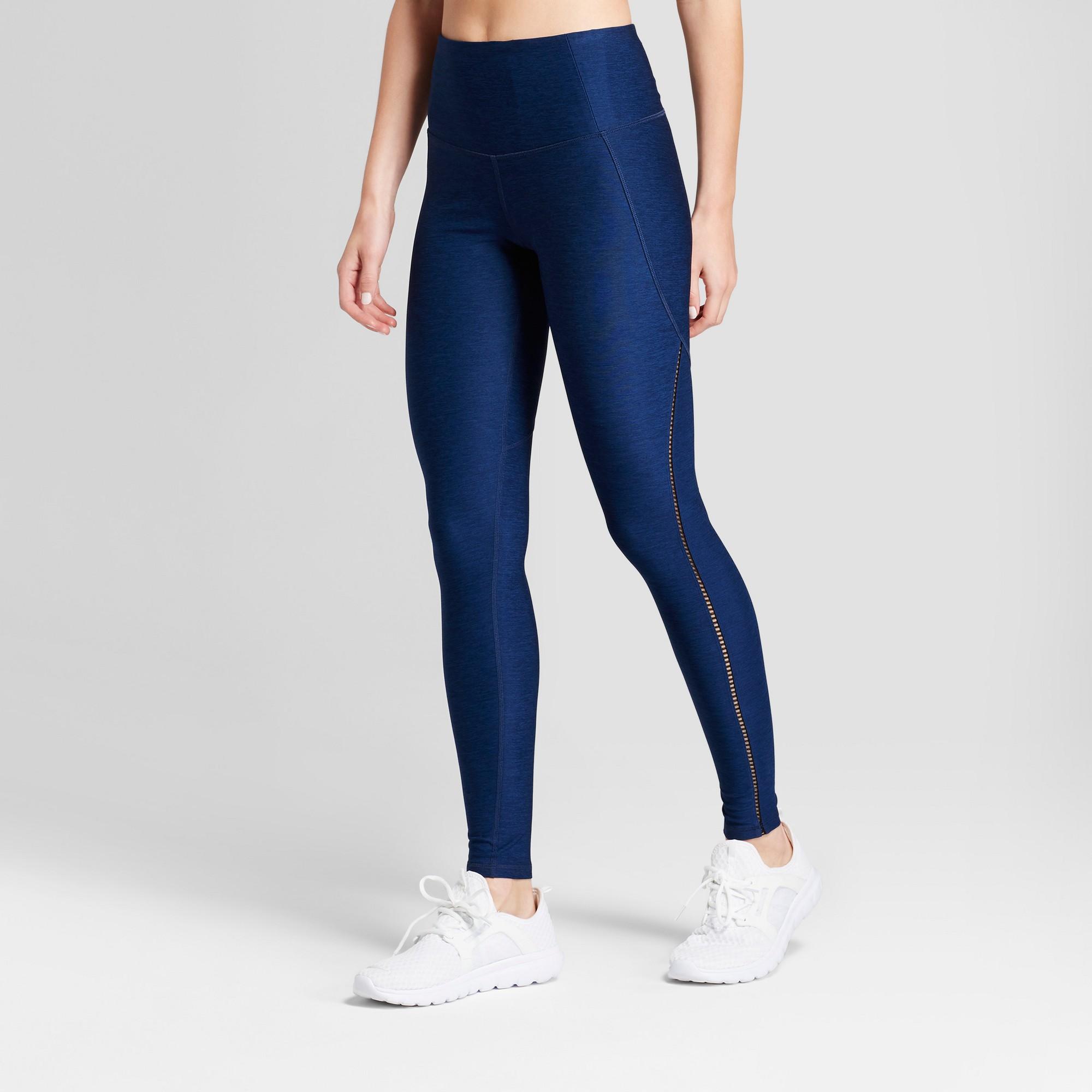 aa64edbc5534b Women's Freedom High-Waist Lattice Leggings - C9 Champion Midnight Blue  Heather Xxl