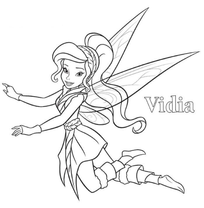 Vidia Tinkerbell Coloring Page Fairy Coloring Pages