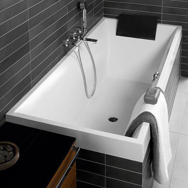 villeroy boch squaro die einbau badewanne ist aus sto und kratzunempfindlichem quarz acryl. Black Bedroom Furniture Sets. Home Design Ideas
