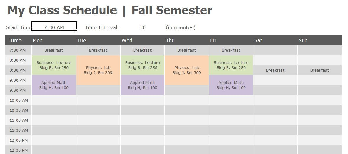 Pin On Class Planner Template