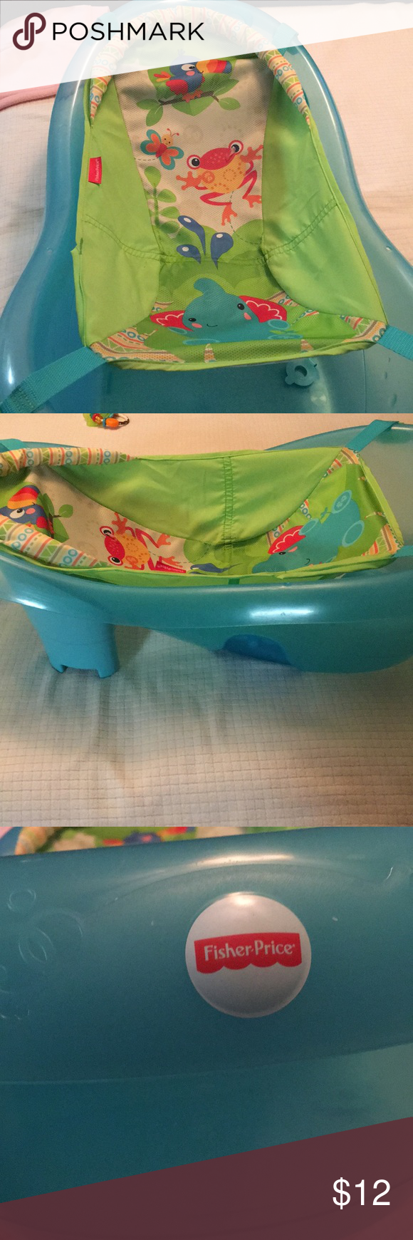Baby bathtub used once! Converts from newborn to toddler with drain ...