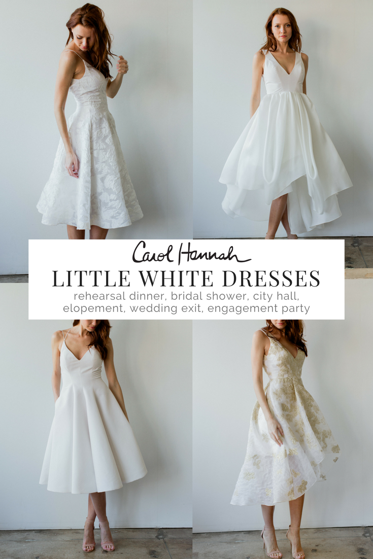 Looking For A Standout Little White Dress For All The Events Surrounding Your Wedding We Engagement Party Dresses Bridal Shower Dress Wedding Reception Dress