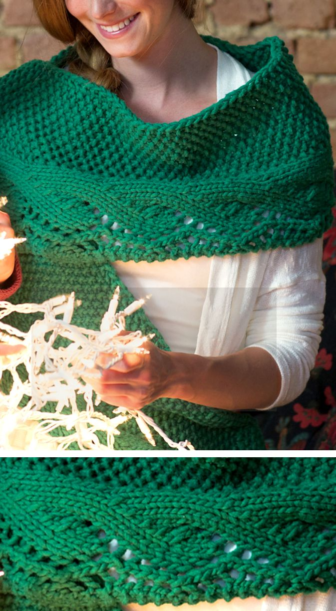 Knitting Pattern for Bulky Waves Scarf - Seed stitch scarf with a ...