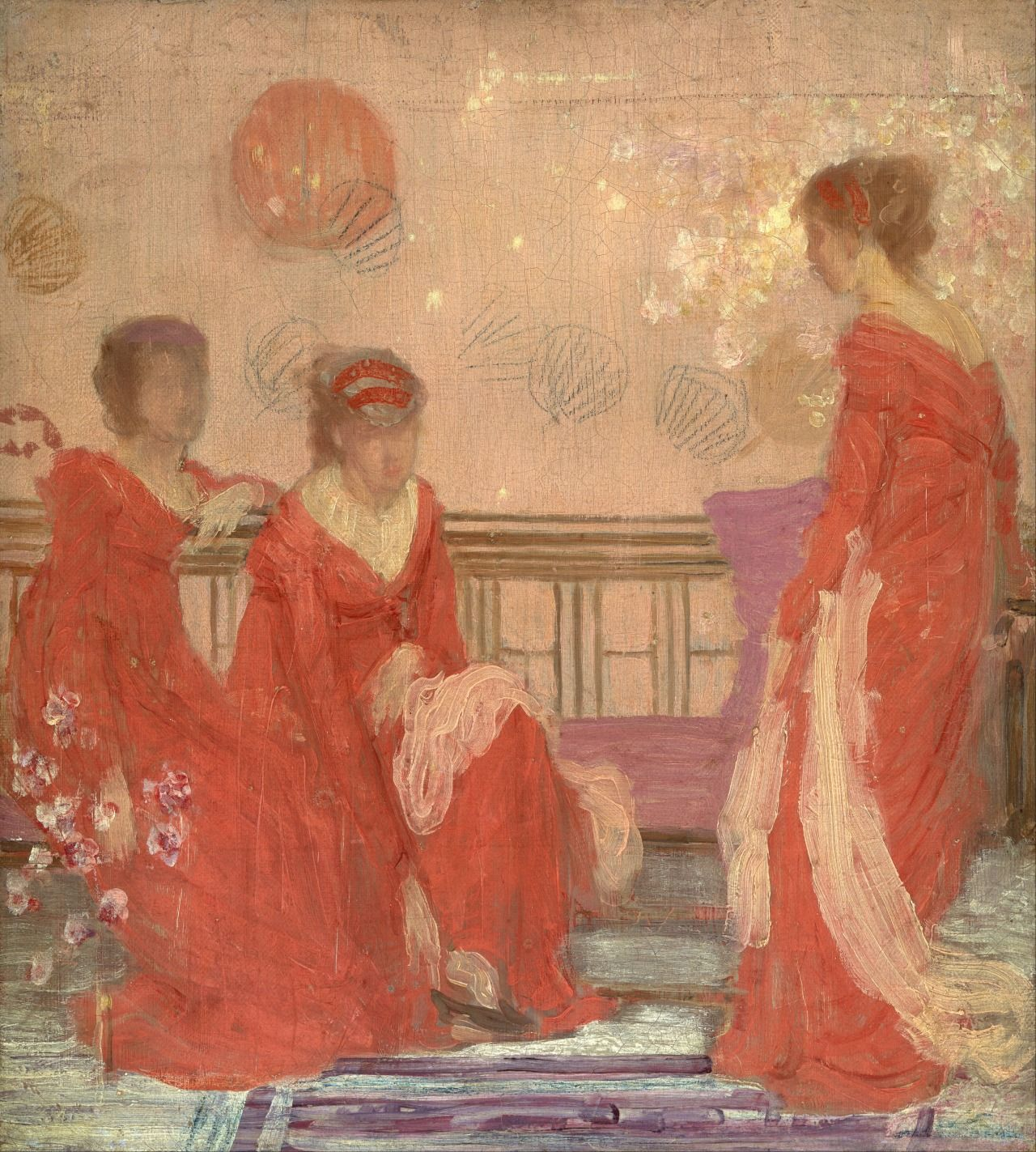 James Abbott McNeill Whistler (1834-1903) - Harmony in Flesh Colour and Red
