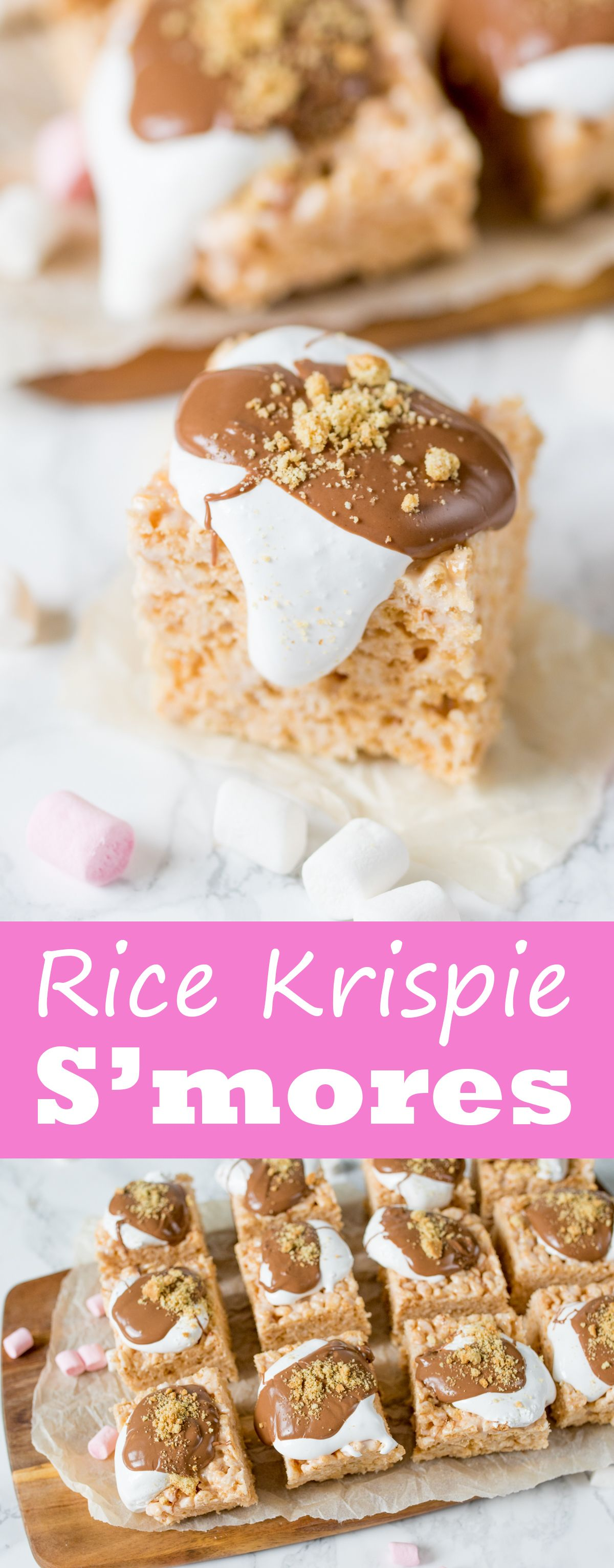 How to make rice krispie treats recipe smores bars for
