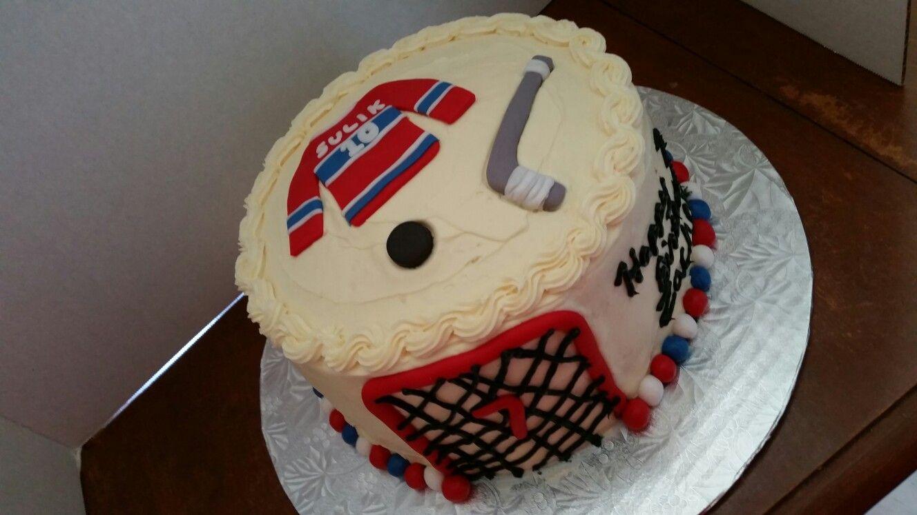 Hockey theme cake with fondant decorations Amazing Baking