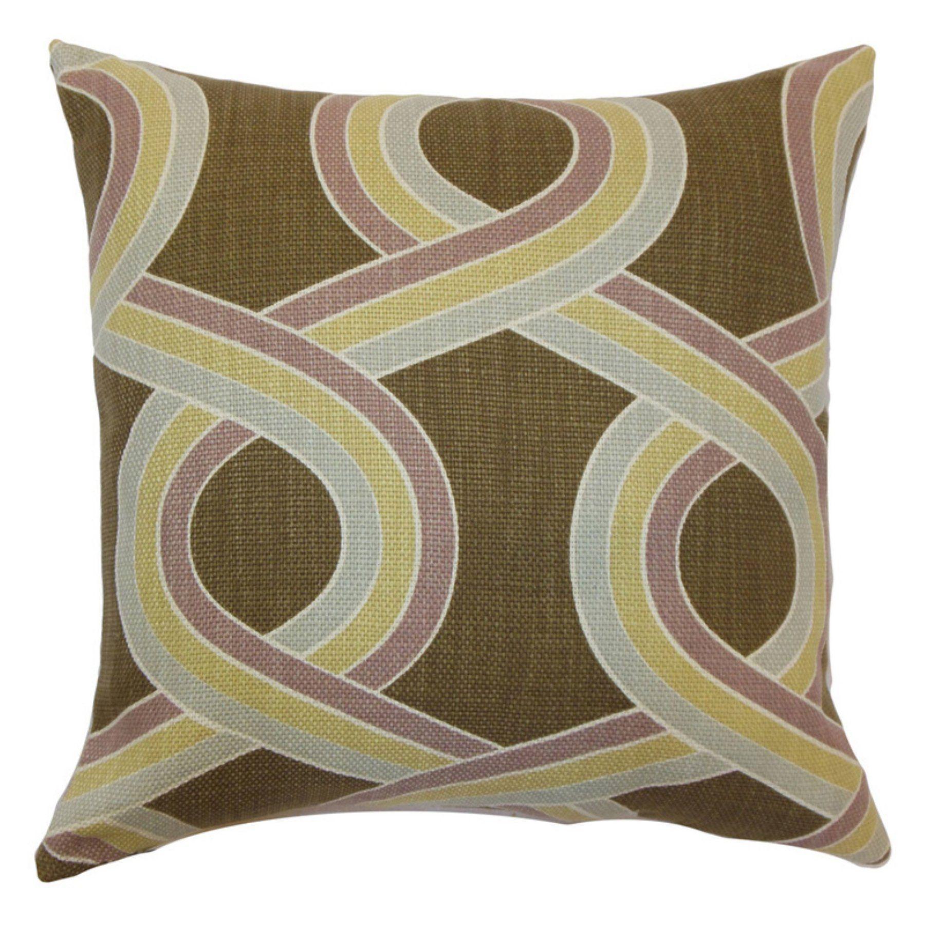 The pillow collection malva knots pillow hazelnut pd