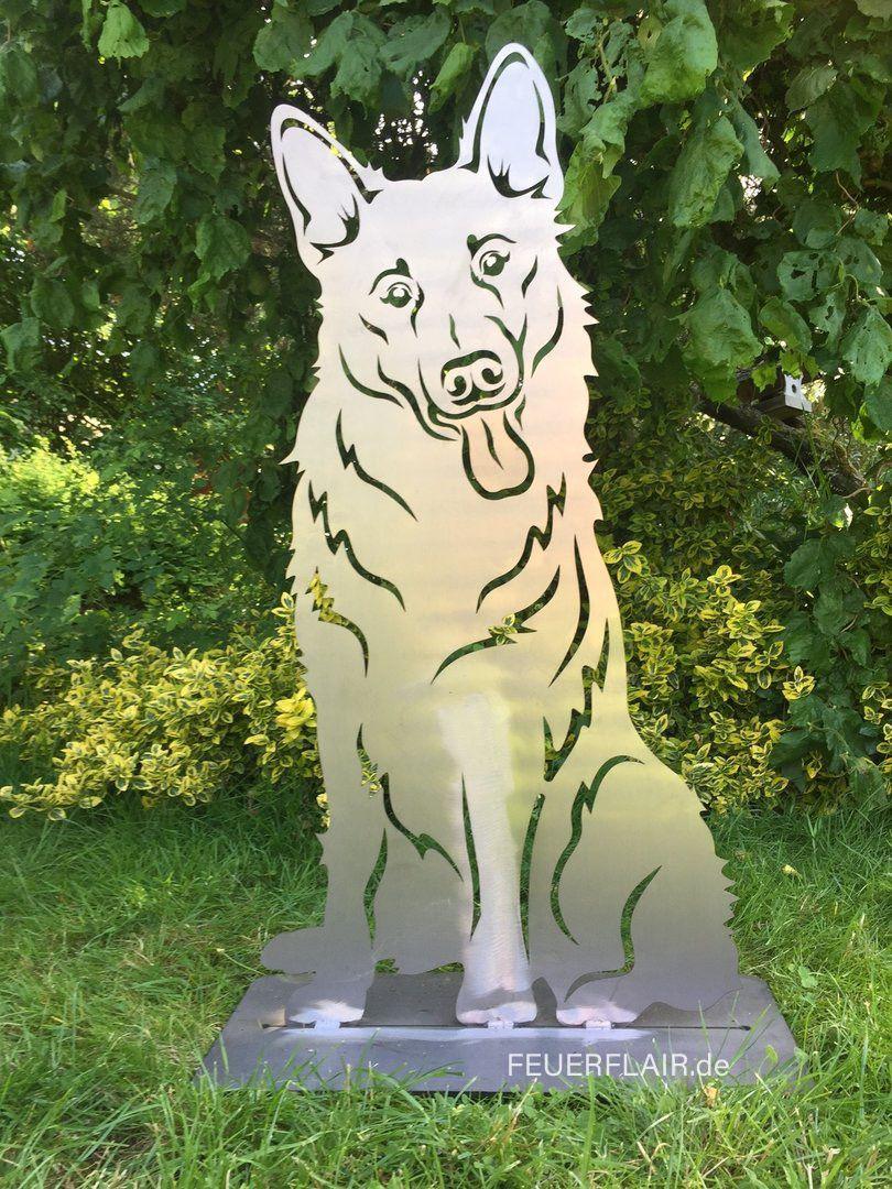 Gartenfigur Deutscher Schaferhund Gartenfiguren Metallkunstprojekte Hundepfoten