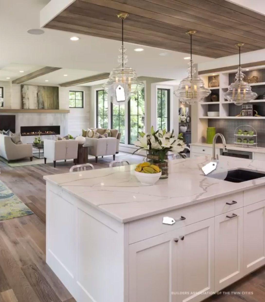 Lights | Farmhouse kitchen design, Open concept kitchen ...