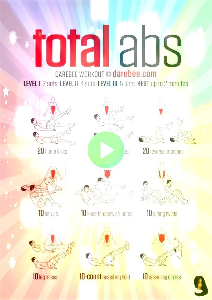 challenge Total Abs Workout Best  5 sets no weight Each side flutters bicycles Russi Total Abs Workout Best  5 sets no weight Each side flutters bicycles Russian twists t...